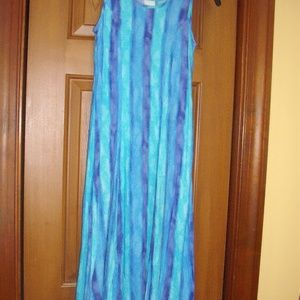 Girls long summer dress age 10 Excellent condition